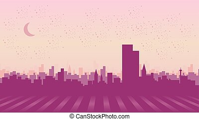 Illustration of a city