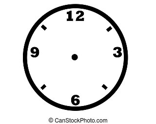 clock face - illustration of a clock face with numbers