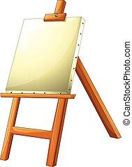 easel - Illustration of a close up easel