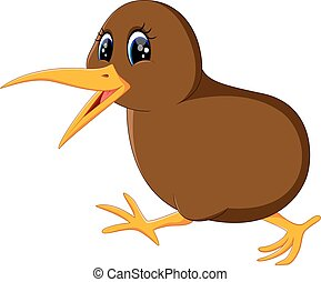 Illustration of a close up kiwi bird