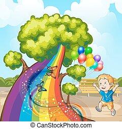 Illustration of a closeup tree