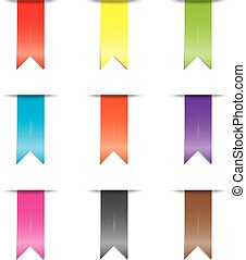 Illustration of a coloured ribbon set