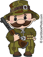 hunter - illustration of a comic hunter