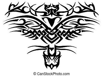 complex ornament tattoo - illustration of a complex ornament...