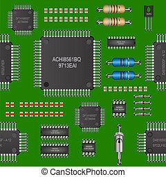 computer board seamless pattern
