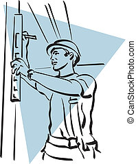 construction worker - illustration of a construction worker ...