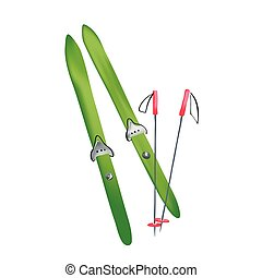 cross country old fashioned skis