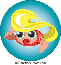 cute blonde little fish