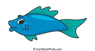 Illustration of a cute cartoon fish
