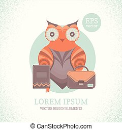 Illustration of a cute owl