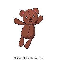 Illustration of a cute teddy bear toy