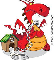 dangerous dragon - illustration of a dangerous dragon