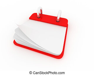illustration of a desk calendar showing a blank page