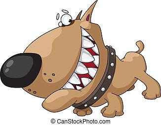 dog smile - illustration of a dog smile