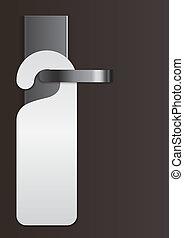 door handle with virgin label - Illustration of a door ...
