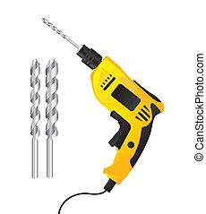 Illustration of a drill