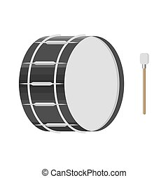 illustration of a drum with a drumstick