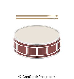 illustration of a drum with drumsticks