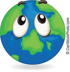 earth globe face