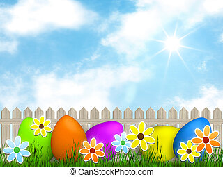 a easter background for your message