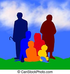 illustration of a family