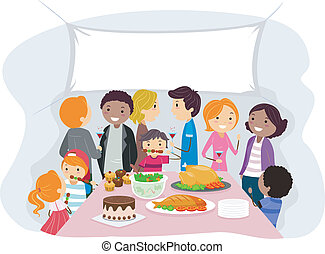 Family Gathering - Illustration of a Family Gathering