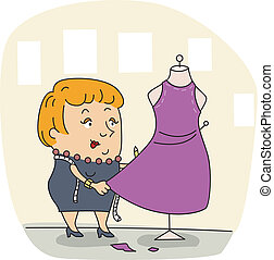 Fashion Designer - Illustration of a Fashion Designer at...