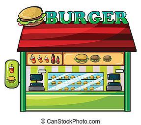 a fastfood restaurant - illustration of a fastfood ...