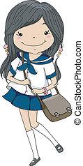 Female Japanese Student
