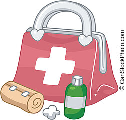 First Aid Kit - Illustration of a First Aid Kit