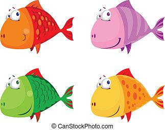 illustration of a fish big set