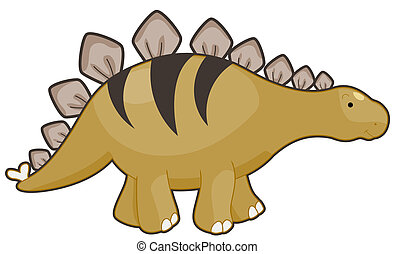 Stegosaurus - Illustration of a Fleshy Stegosaurus Smiling...