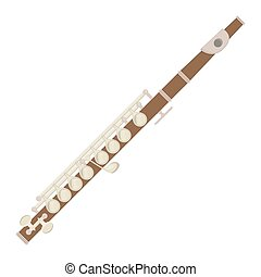 illustration of a flute on white background.