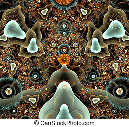 illustration of a fractal background abstract geometric ornament