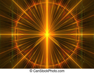 illustration of a fractal background with bright glowing lines