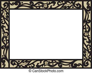 Illustration of a Frame with Filigree Border