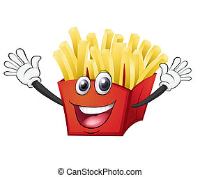a french fries - illustration of a french fries on a white ...