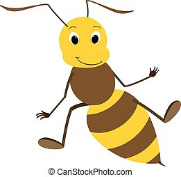 Illustration of a Friendly Cute Bee