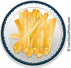 fries - illustration of a fries on a white background