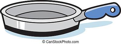 Frying Pan - Illustration of a Frying Pan
