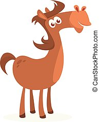 Illustration of a funny cartoon horse. Vector illustrated