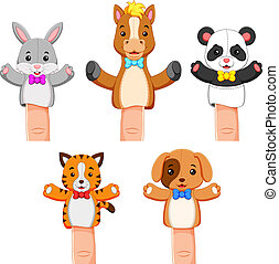 a funny colections of puppet pet animal - illustration of a...