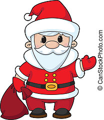 illustration of a funny santa