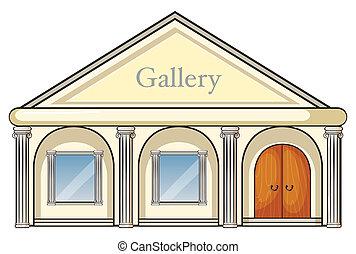 a gallery  - illustration of a gallery on a white background