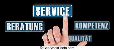 service - illustration of a german service concept