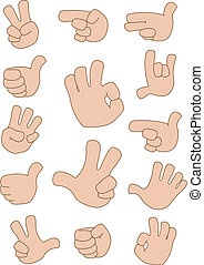 illustration of a gestures collection
