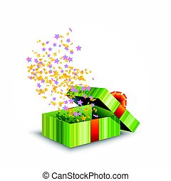 Illustration of a gift box isolated on white