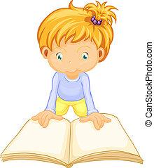 a girl reading book