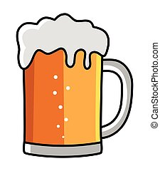 Illustration of a glass of beer