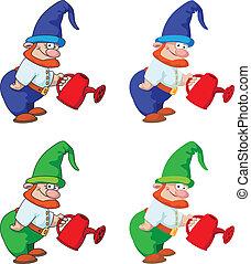 gnome gardener - illustration of a gnome gardener